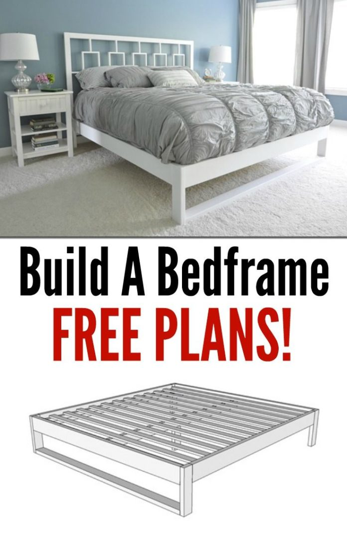 Diy Home Decor Ideas Build Your Own Bed Frame Learn How With These Free Plans Great