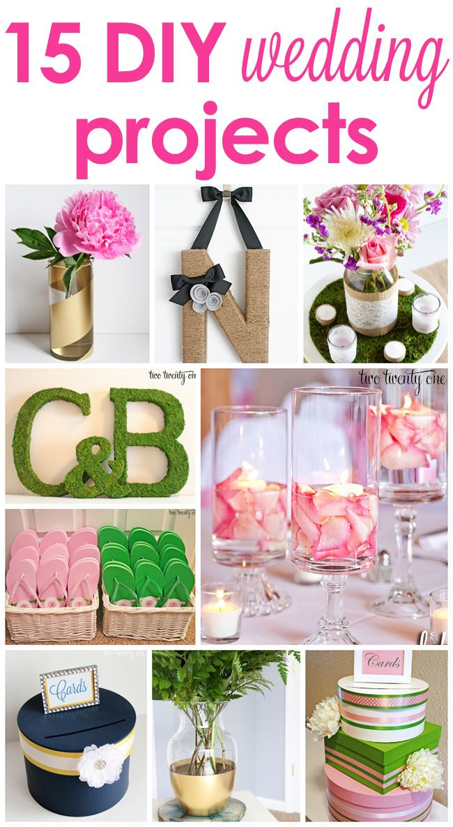 Diy Home Decor Ideas 15 Great Budget Friendly Diy Wedding Projects Many Can Double As Decor