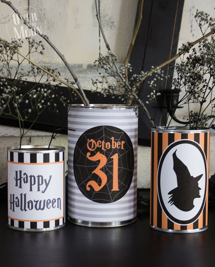 Diy Home Decor Ideas Halloween Tin Can Wrappers Makes A Perfect