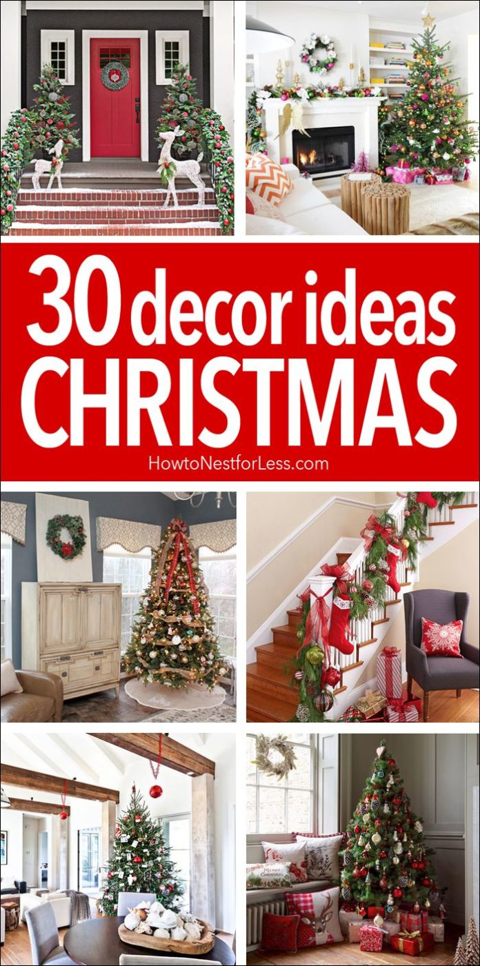 Diy home decor ideas 30 christmas decor ideas great for Home decor ideas