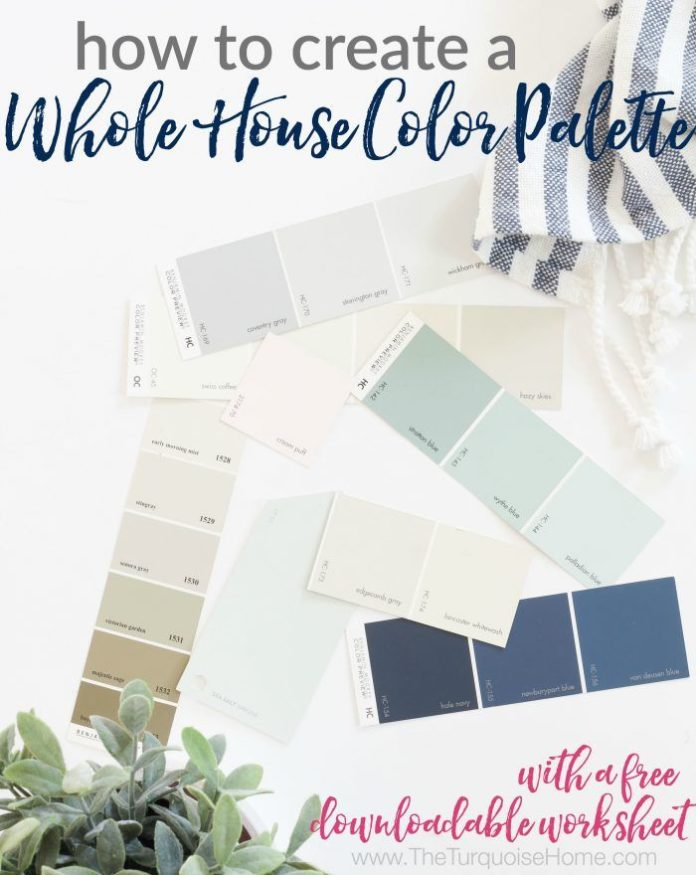 Diy Home Decor Ideas A Whole House Color Palette Sets The