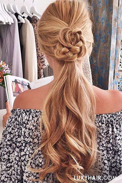 Wedding Hairstyles Ideas Summer Ponytail Hairstyle From Luxy Hair