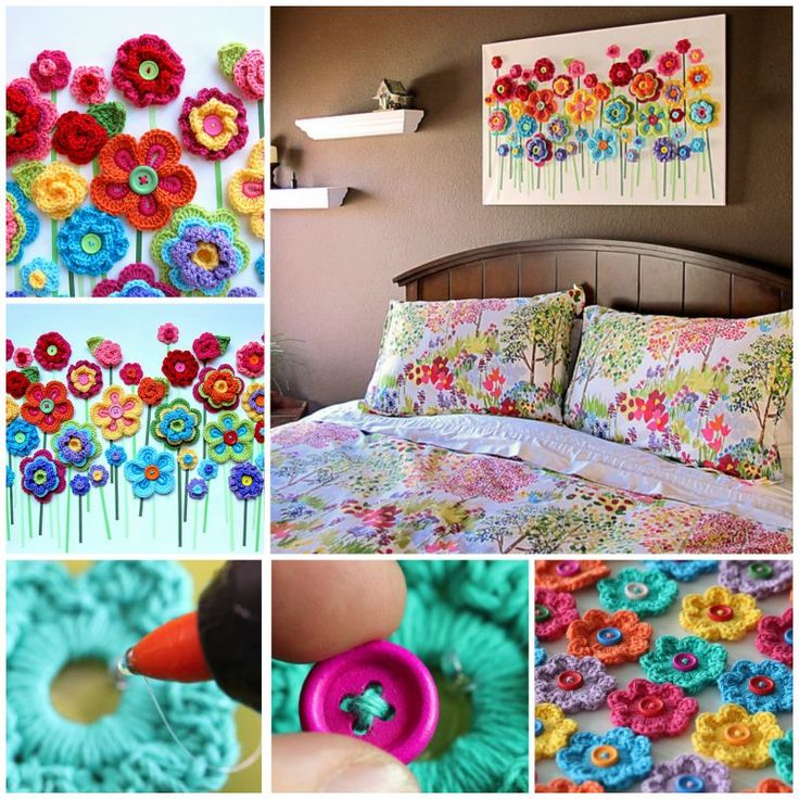 Diy Home Decor Ideas On Flower Wall Art Step By