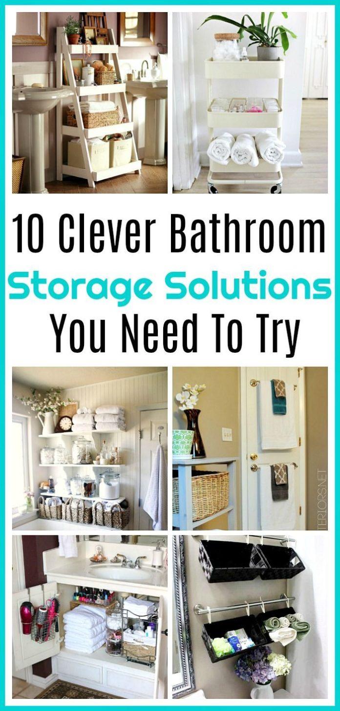 Diy home decor ideas 10 clever bathroom organization for 26 great bathroom storage ideas