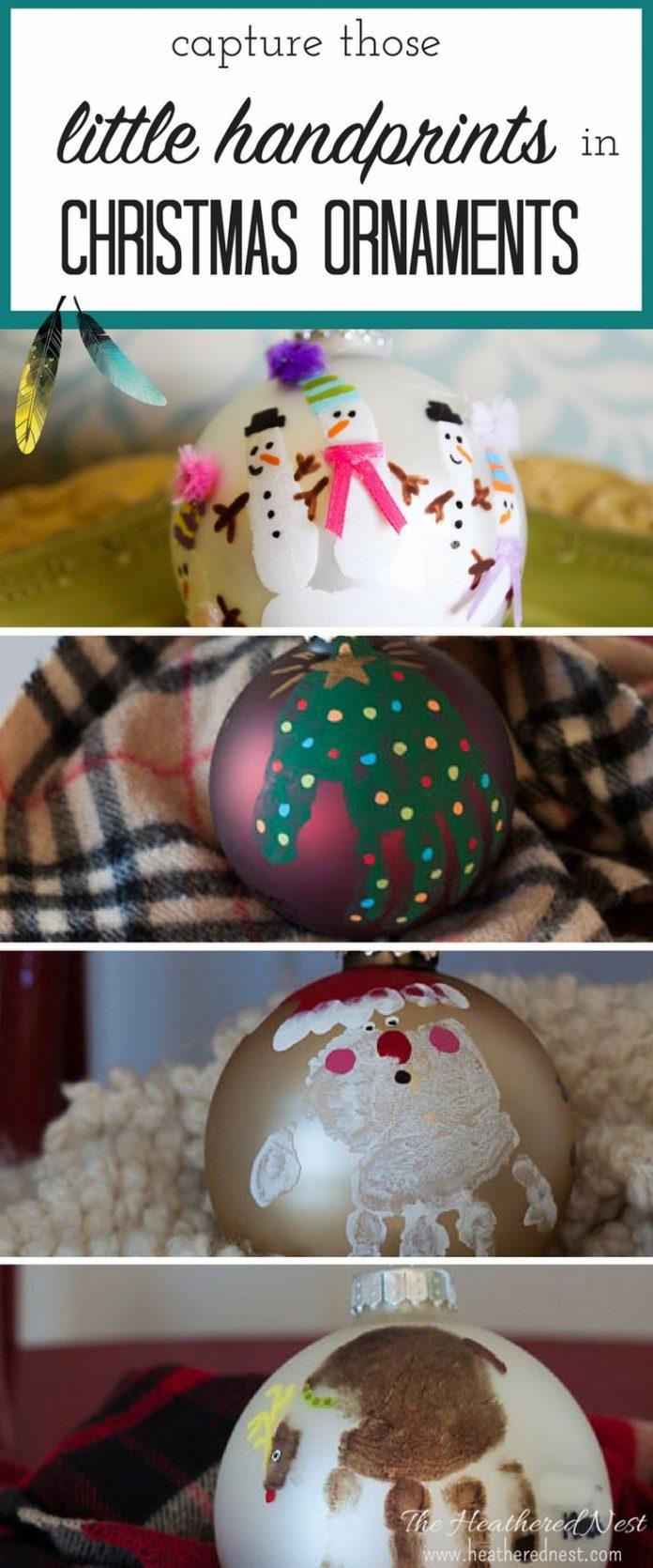 Diy home decor ideas diy handprint christmas ornament for Easy diy home decorations