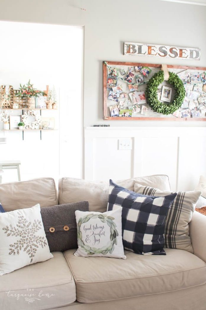 Diy home decor ideas pretty magnolia wreath christmas mantel decor brings a rustic feel to the - Home decor ideas diy ...