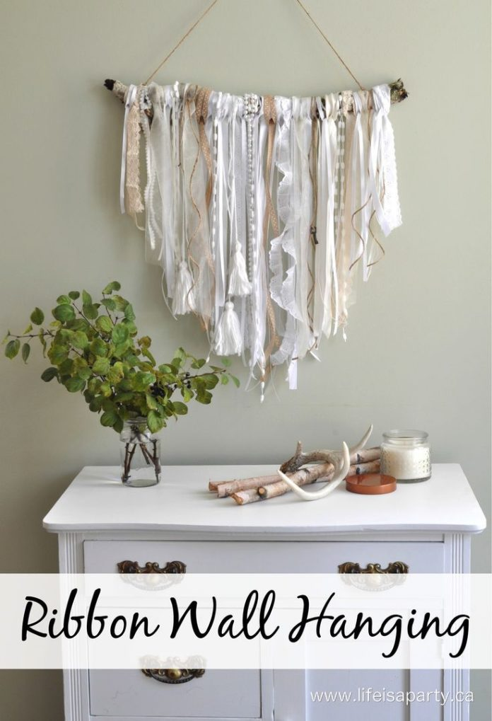 diy home decor ideas ribbon wall hanging easy diy