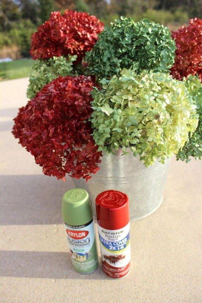 Diy home decor ideas spray paint hydrangeas hydrangealove spraypaintdiy dryedflowers - Home decor ideas diy ...