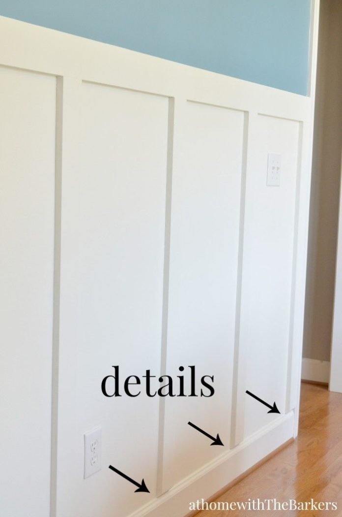 Diy home decor ideas dining room board and batten trim for Diy mural ideas