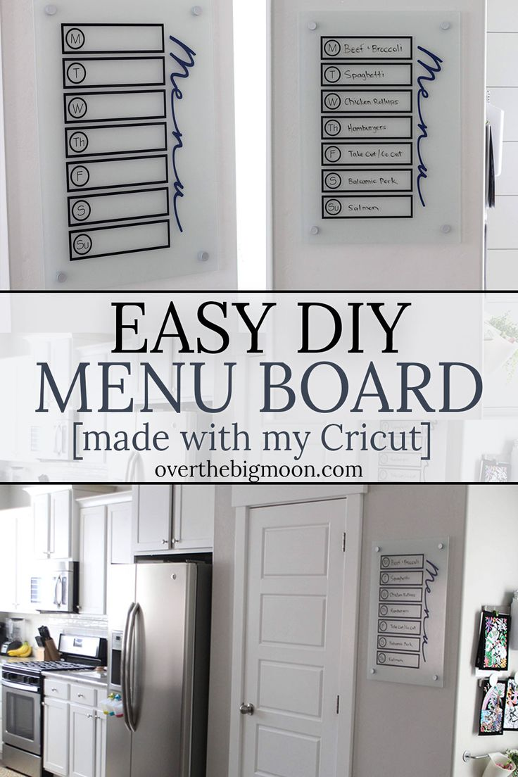 DIY Home Decor Ideas: Easy and Simple DIY Menu Board! Need help ...