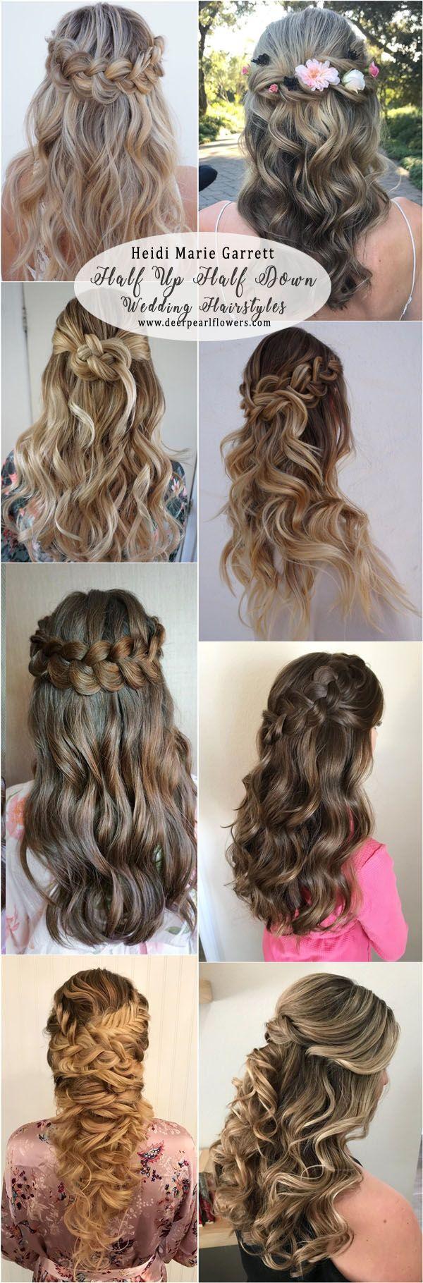 Wedding Hairstyles Ideas : Heidi Marie Garrett Half up half down ...