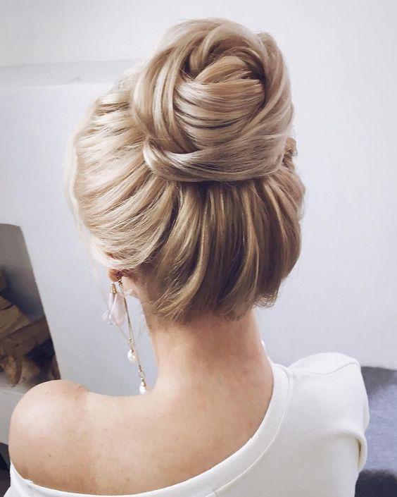 Wedding Hairstyles Ideas Textured Wedding Updo Hairstyle Messy
