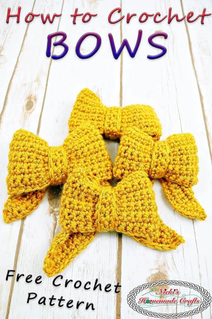 DIY Home Decor Ideas Learn How To Crochet A Bow With One Color