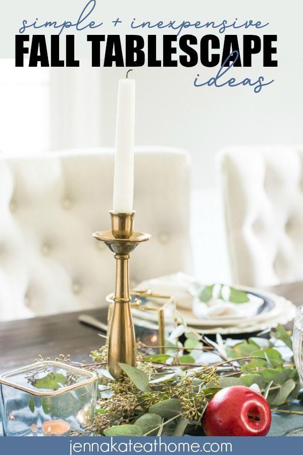 Diy Home Decor Ideas Simple Fall Table Decor And Tablescape Ideas